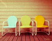 Fine Art Photography, Chair Art, Still Life Photo, Vintage Chair, pastel, Print, Summertime, Retro Decor, Mid Century, Home Decor, Furniture