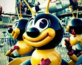 Carnival Bee Ride - 5 x 7 Print - Fine Art Photograph - Summertime Carnival - Squintphotography