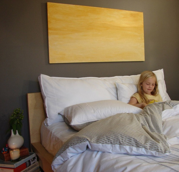 Box headboard pillow queen for Headboard made pillows