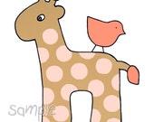 Pink Polka Dot Giraffe