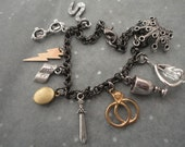 Harry Potter Inspired, 7 Horcruxes, Deathly Hallows Charm Bracelet