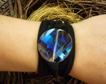Crystal Suede Wrap Bracelet