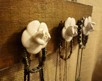 Upcycled Jewelry Organizing Display (Wood Plank)