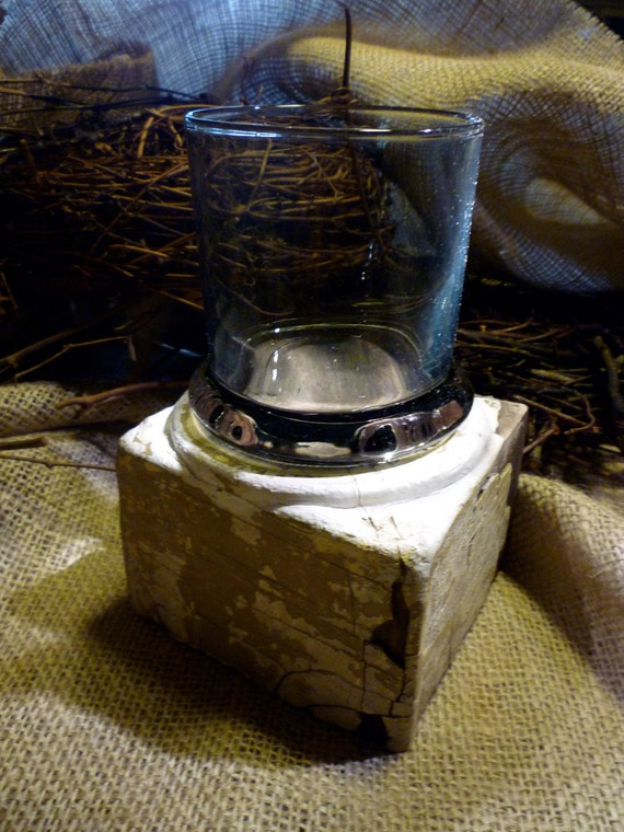 Upcycled Salvaged Wood Candle Holder