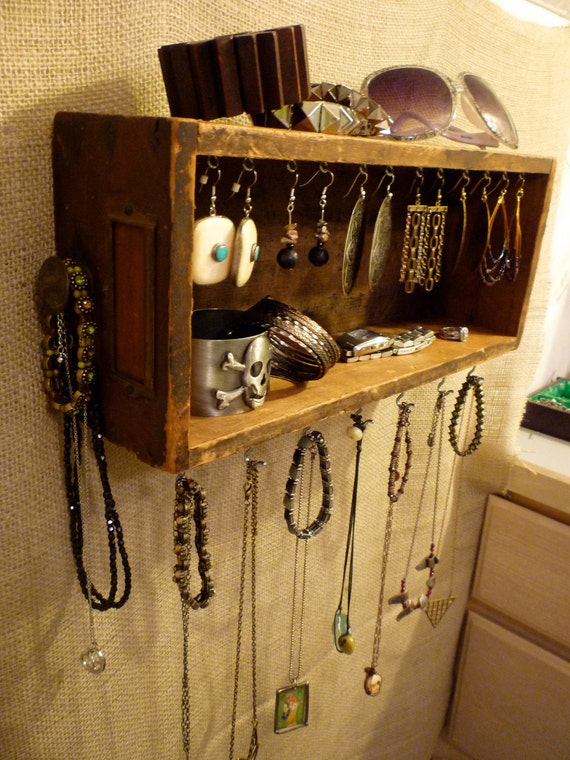 Upcycled Jewelry Organizing Display (Wood Drawer 18)