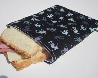 Reusable Sandwich Bag - Skater