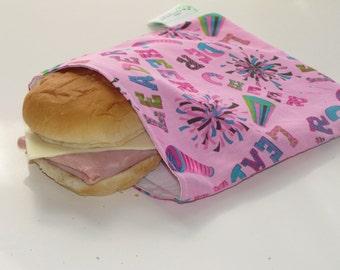 SALE! Reusable Sandwich Bag - Cheerleading