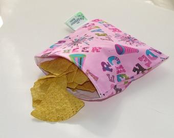 Reusable Snack Bag - Cheerleading