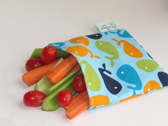Reusable Snack Bag - Whales
