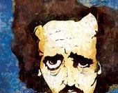 Edgar Allan Poe wall art - 12x18 High Quality Art Print