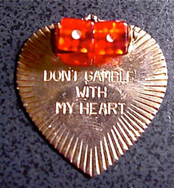 Don't Gamble With My Heart Charm With Rolling Dice