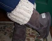 Knit Pattern/Broken Rib Boot Toppers/Cuffs