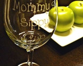 Mommy's Sippy Cup Wine Glass by ThePaisleyLn on Etsy
