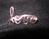 Light Pink Love Ring Wire Wrapped Dainty Bridesmaids Gifts Unique Gift For Her Cute
