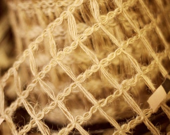 4 inch Jute Wired Ribbon