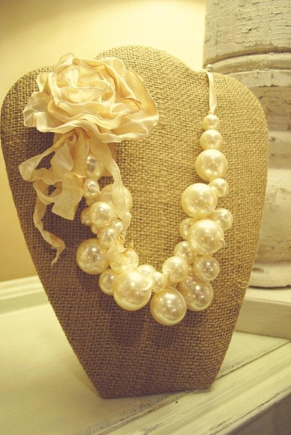 Burlap Necklace Display