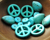 Turquoise Beads, Peace, Pear, Heishi Beads