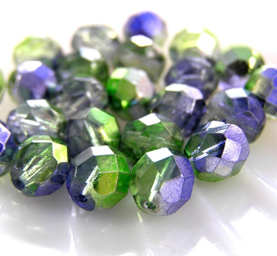 Purple Lavender Beads, 8mm bead, Premium Czech Glass Beads