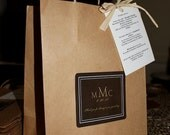 Wedding Welcome Bags Anthropology Woodland Classic Style Guest bag Brown and champagne