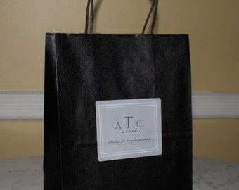 12 Wedding Welcome Bags Gift bags for out of town guests Black and Silver