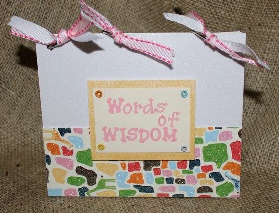 Baby Shower Words of Wisdom Game Book and Gift
