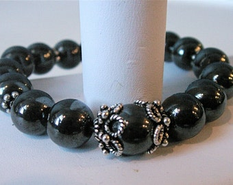 Hematite and silver