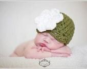 CROCHET PATTERN - Chunky Newborn Flower Cloche