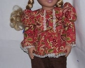 Brown pantsuit for American Girl