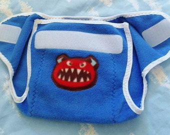 Monster Fleece Diaper Cover - SMALL