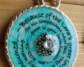 New every morning...great is your faithfulness... pendant with ball chain