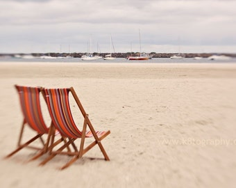 Deck Chairs on the Beach - Photograph