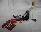 Arizona Cardinals Wedding Cake Topper Bride Groom Jersey Helmet