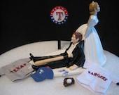 Texas Rangers BASEBALL Wedding Cake Topper Groom Cake