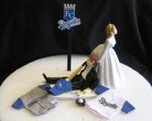 Kansas City Royals BASEBALL Wedding Cake Topper Groom Cake