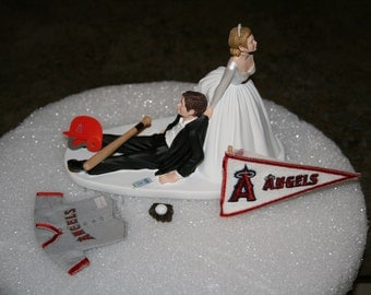 angels baseball wedding cake topper boston sox baseball wedding cake topper groom by 10763