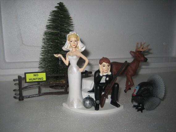 Turkey Hunting Cake Decorations : Hunting Wedding Cake Topper deer turkey gun Groom s Cake