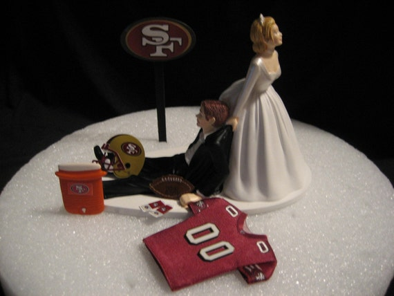 San Francisco 49ers Wedding Cake Topper Groom Jersey
