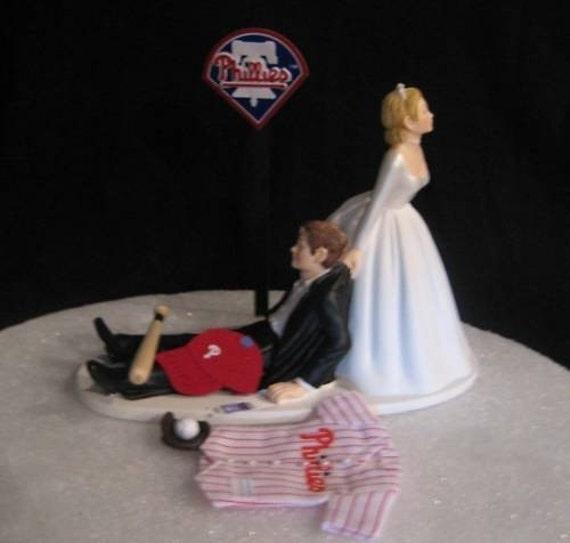 Philadelphia Phillies Baseball Wedding Cake Topper Groom Cake