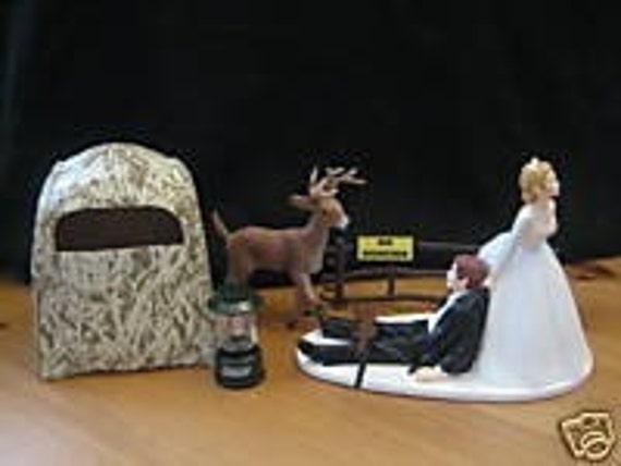 Deer Hunting Wedding Cake Topper Groom's Cake Hunting Blind