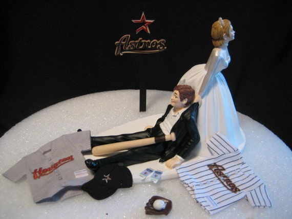 wedding cake toppers in houston tx houston astros baseball wedding cake topper groom by 26508