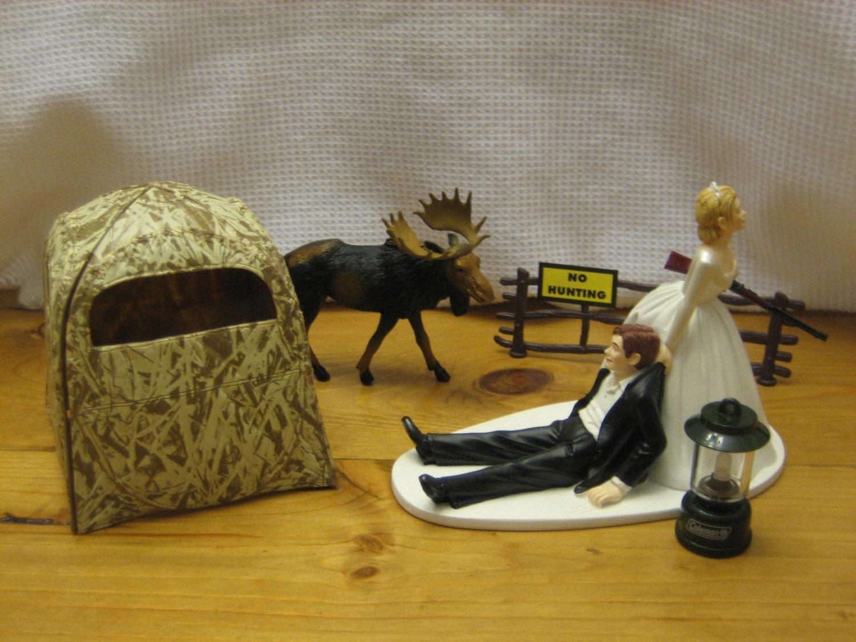 Moose Hunting Wedding Cake Topper Groom S Cake By Finsnhorns