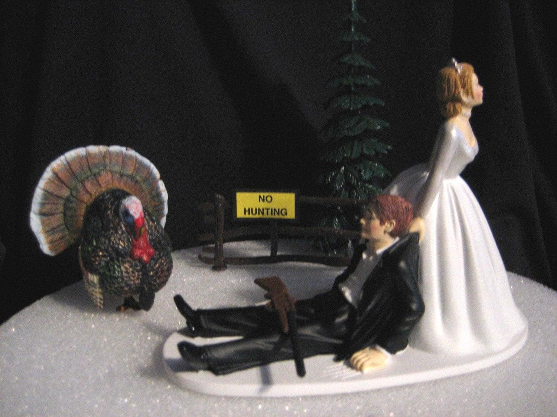 Turkey Hunting Cake Decorations : Turkey Hunting Wedding Cake Topper Groom s Cake by finsnhorns