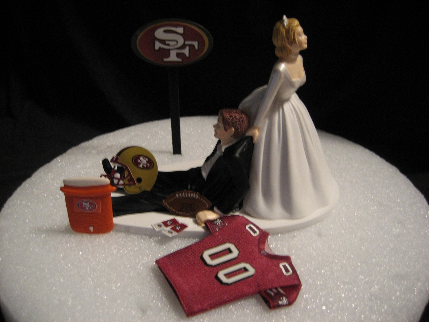 San Francisco 49ers Wedding Cake Topper Bride Groom By
