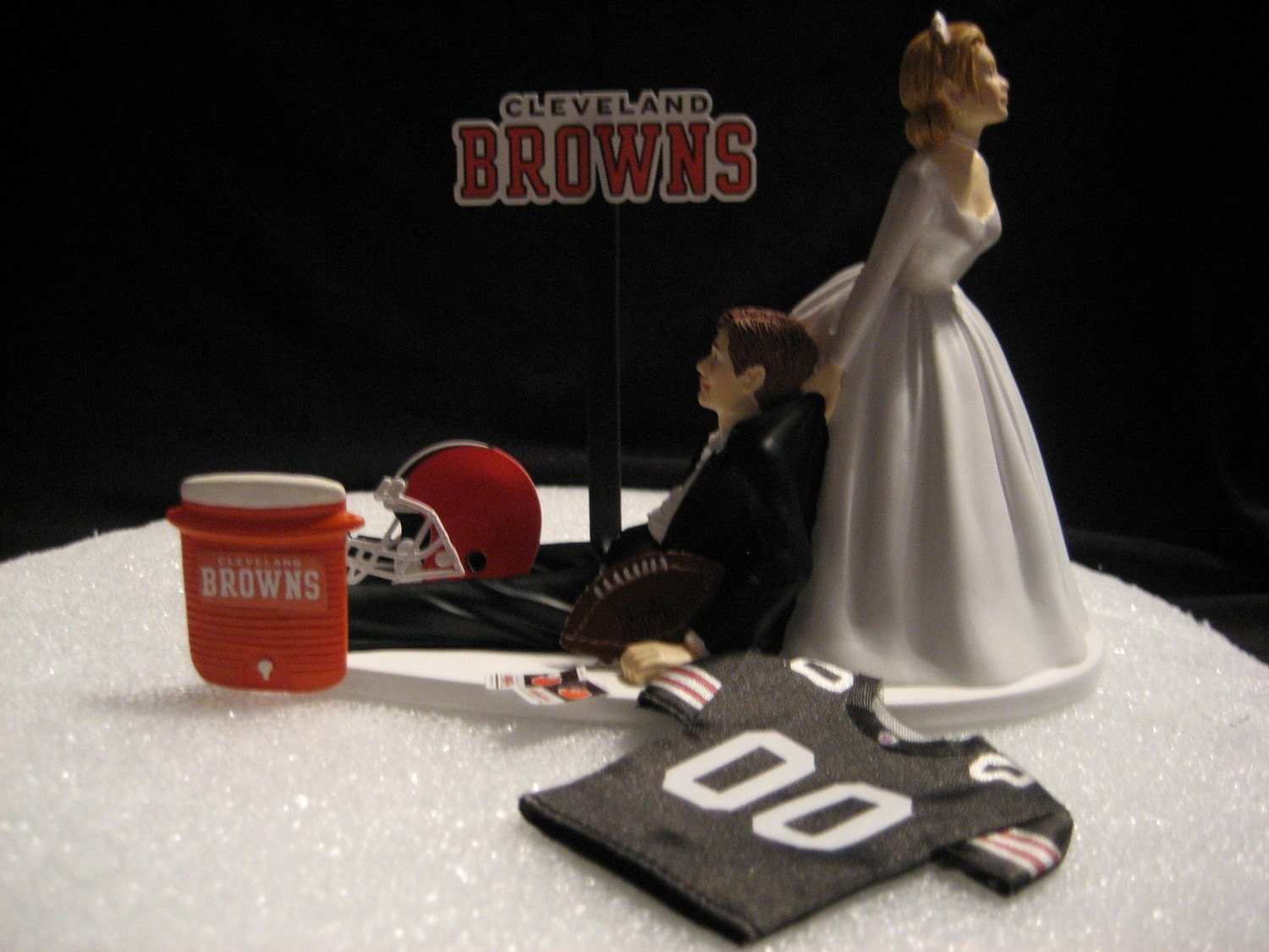 Cleveland Browns Wedding Cake Topper Bride Groom By Finsnhorns