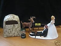 deer hunter wedding cake topper deer wedding cake topper groom s cake by finsnhorns 13442