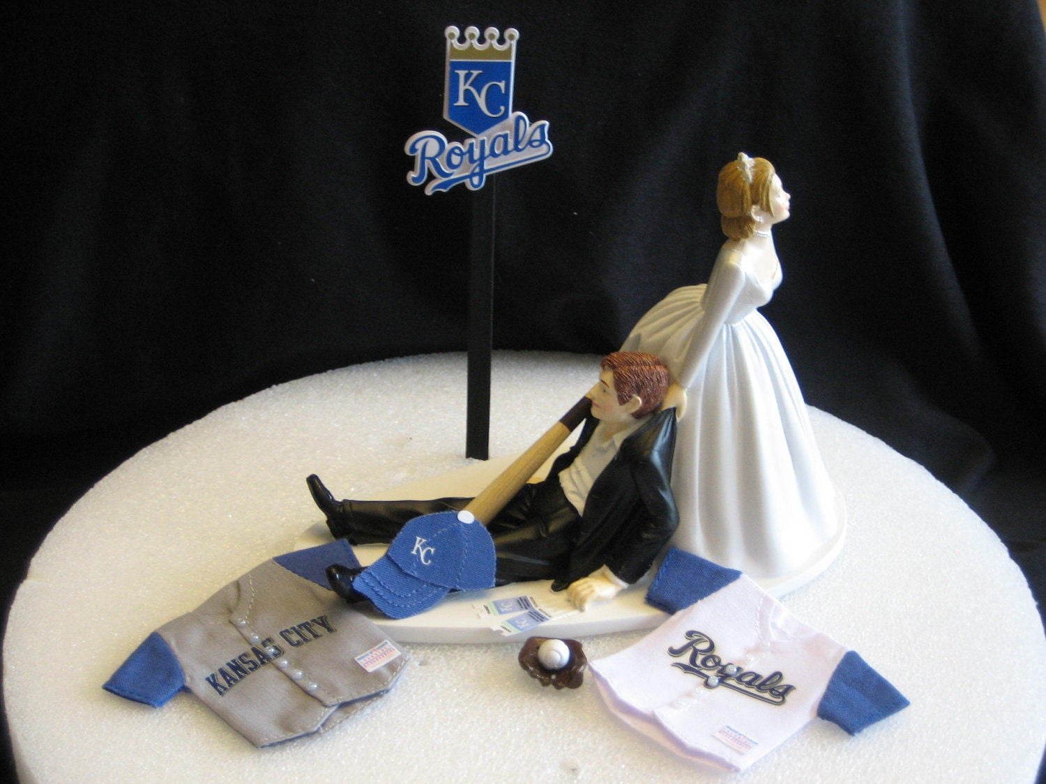 Kansas City Royals BASEBALL Wedding Cake Topper Groom Cake