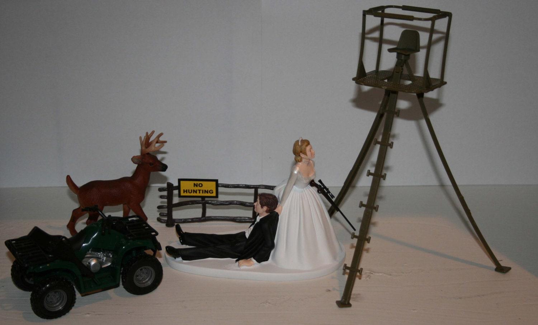 Deer Hunting Wedding Cake Topper Groom s Cake Deer Stand