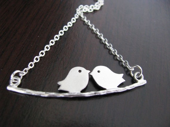 Love Tweets On A Branch Necklace