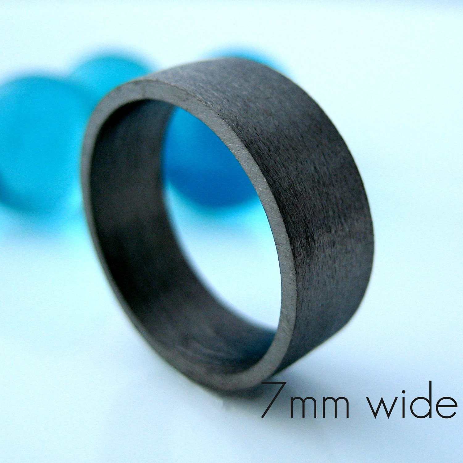 7mm wedding band black gold ring men's ring etsy