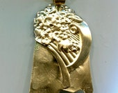 FLORAL BRASS BOUQUET...Recycled, and Repurposed  Pendant